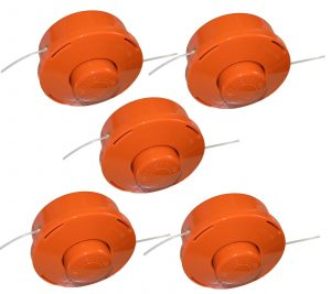 eSkde Replacement Strimmer Brushcutter Bump Feed Line Spool Head x 5
