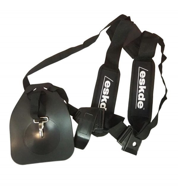 eSkde Padded Double Shoulder Harness for Brush Cutter Strimmer Garden Multi Tool