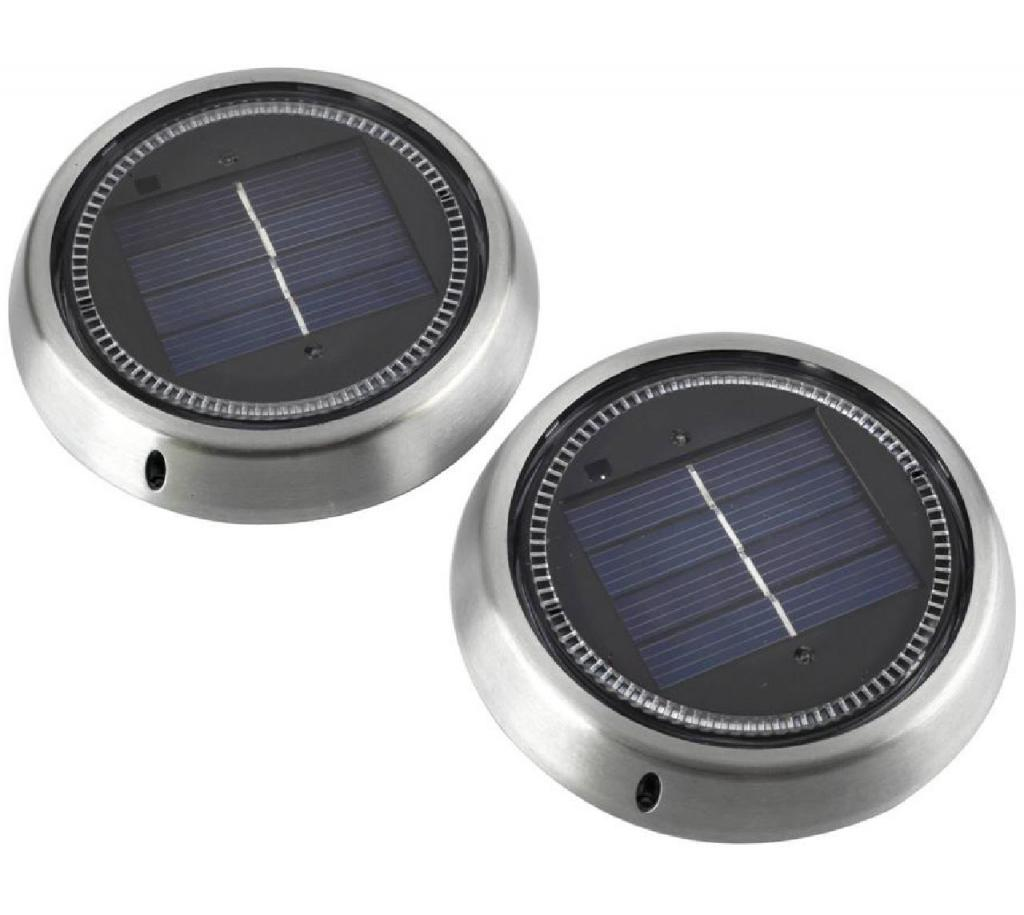 NEW Fine Lighting Co SW278C ELAN Solar Ring Garden Patio Deck Lights Twin Pack