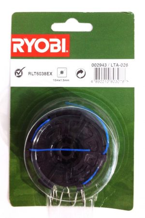 Ryobi LTA-026 Strimmer Spool and Line RLT6038EX 10m x 1.5mm