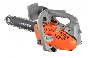 "eSkde Top Handle Petrol Chainsaw 26cc 10"" Bar + 2 Chains Cover and Carry bag"