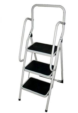 Eckman Super Safety 3 Step Ladder Set White