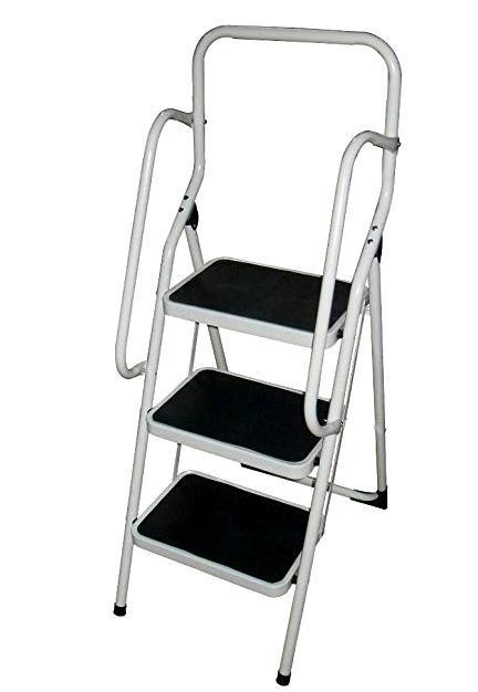 Eckman Super Safety 3 Step Ladder Set White