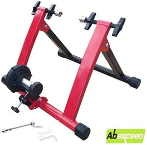 Indoor bicycle trainer with quick release red 55x49x39.5cm