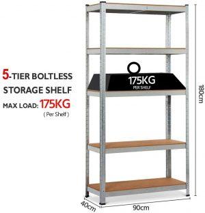 5 layer household shelf 180x90x40cm