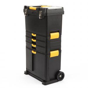 Plastic Mobile Roller Tool 46x26x82cm black/yellow