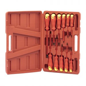 Electricians Insulated Screwdriver Set 11pc + Case