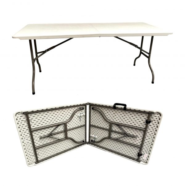 6FT Heavy Duty WIDE Folding Banqueting Table Catering BBQ Garden Camping Party Buffet